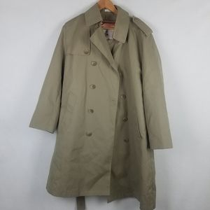 Misty Harbor Size 40 Fleece Lined Trench Coat.